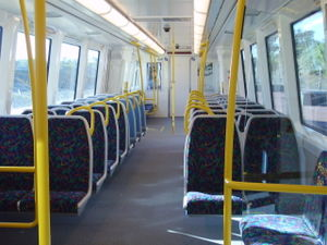 Transperth B-series train - Image: B Series Interior