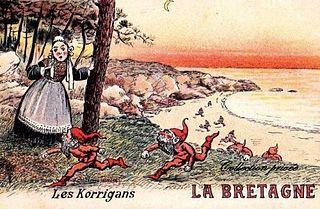 Korrigan fairy or dwarf in Breton folklore