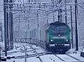 BB 27000 et Fret à Francin sous la neige (avril 2019).JPG