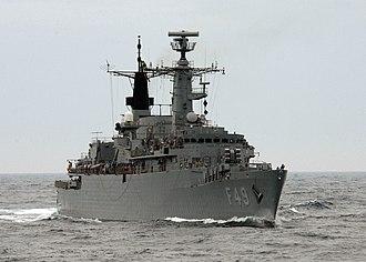 Type 22 frigate - Rademaker (F49), a type 22 frigate of the Brazilian Navy