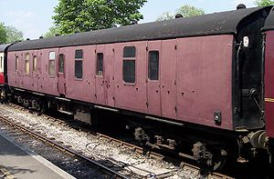 Brake Gangwayed - BG Number 81020 pictured at the Midland Railway - Butterley on 9 June 2006 without lettering or numbering