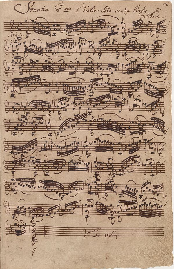 Sonatas and Partitas for Solo Violin (Bach) - Wikiwand