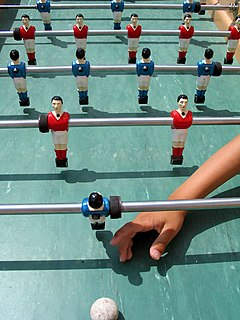 Table football table-top game similar to soccer