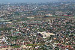 Aerial view of Bacoor with SM City Bacoor in the foreground