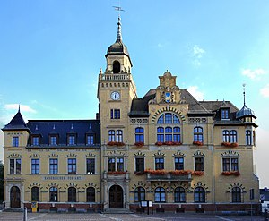 Bad Lausick - Town hall, built in 1897
