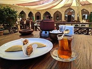 Badambura with tea