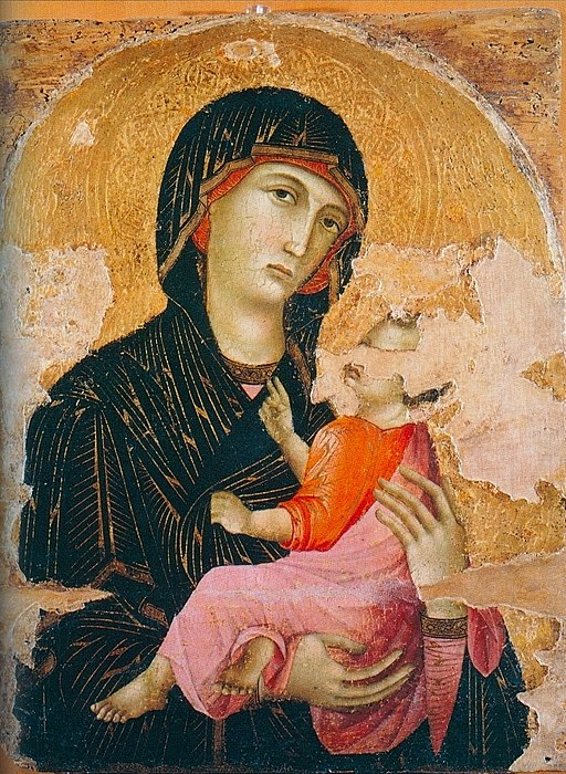 Maestro di Badia a Isola, Madonna col Bambino 1280 circa, Siena, Pinacoteca Nazionale