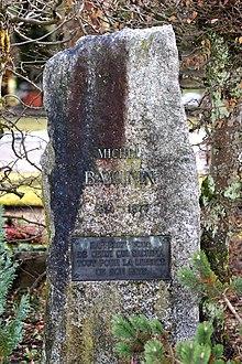 Tumba de Bakunin en el cementerio de Bremgarten-Friedhof de Berna.