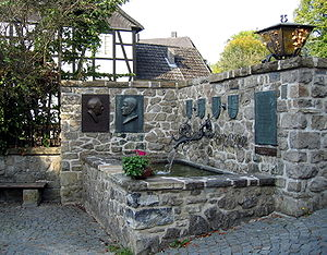 Franz Hoffmeister - A fountain in memory of Franz Hoffmeister and Theodor Pröpper at Balve