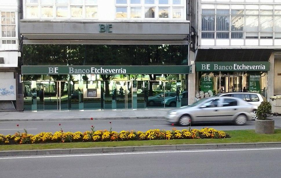 Banco Etcheverria oficina da Coruña