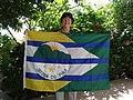 Bandeira Jatobá do Piauí e autora.JPG