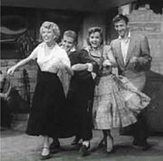 with Barbara Ruick, Bob Fosse and Bobby Van in The Affairs of Dobie Gillis (1953)