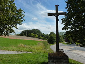 Barby, Ardennes - A Wayside Cross on the presumed site of the birthplace of Jean de Gerson
