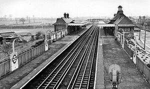 Barkingside tube station - The station in 1961