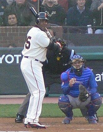 Michael Barrett (baseball) - Barrett (right) on defense