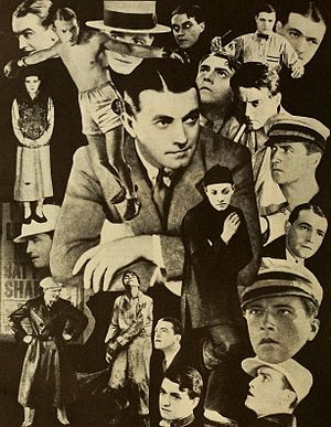 Richard Barthelmess - Collage made in 1930 featuring stills from various films
