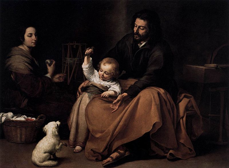 File:Bartolomé Esteban Perez Murillo - The Holy Family with a Bird - WGA16356.jpg