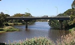 Barwon River (Victoria) - The current Princes Bridge