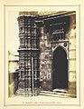 Base South Minaret Muhafiz Khan mosque Ahmedabad 1866.jpg