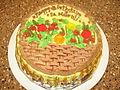 Basket Cake with loads of chocolate icing.JPG
