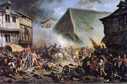 The War in the Vendee was a royalist uprising that was suppressed by the republican forces in 1796. BatailleduMans1793.jpg