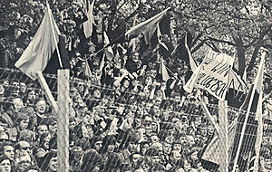 NAC Breda - NAC's fans in 1975 on the Spionkop