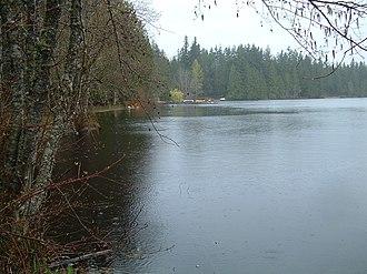 Beaver Lake (King County, Washington) - On a rainy day