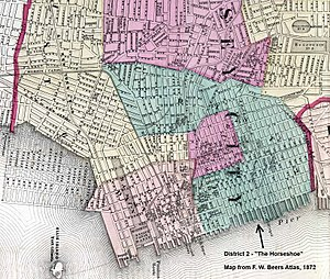Horseshoe, Jersey City - Map showing District 2 in 1872