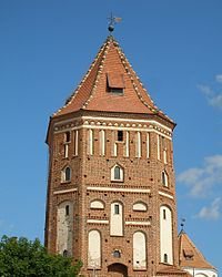 Belarus Mir Castle Central Tower.jpg