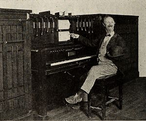 Photoplayer - Ben Turpin and a type of photoplayer instrument, June - August 1922