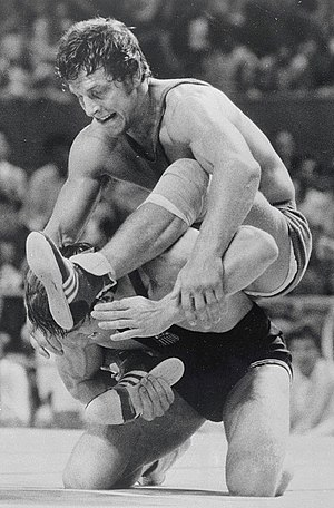 Ben Peterson - Peterson (bottom) at the 1976 Olympics