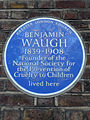 Benjamin Waugh 1839-1908 Founder of the National Society for the Prevention of Cruelty to Children lived here.jpg