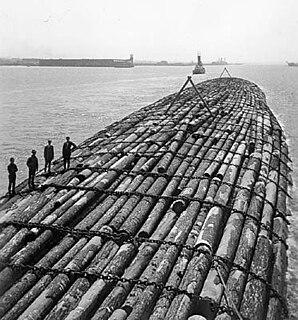 Benson raft Barge used to transfer timber