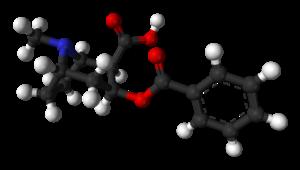 Benzoylecgonine - Image: Benzoylecgonine 3D balls