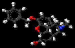 Benzylmorphine - Image: Benzylmorphine molecule ball