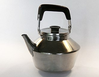 Kettle - A stainless steel kettle with handle