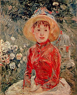 Ordrupgaard - Le corsage rouge by Berthe Morisot (1885)