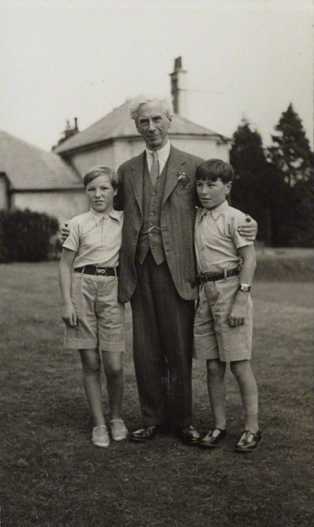 Bertrand Russell with his children