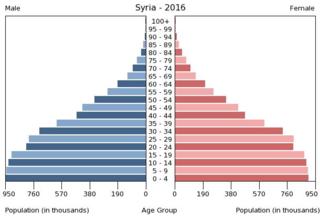 Außergewöhnlich Bevölkerungspyramide Syrien 2016