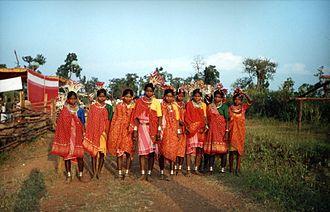 Jhabua district - Bhil tribe girls in Jhabua district