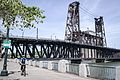 Bicyclist and the Steel Bridge.jpg