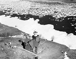 Big Bay Point Light - Undated USCG photo