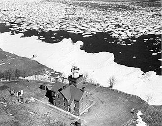 Big Bay Point Light - Undated USCG photo