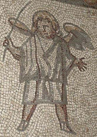 Bignor Roman Villa - Gladiator mosaic