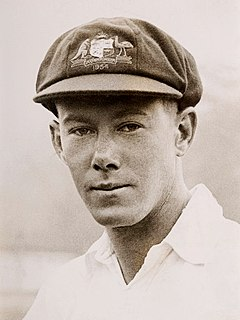 Bill Brown with the Australian cricket team in England in 1948