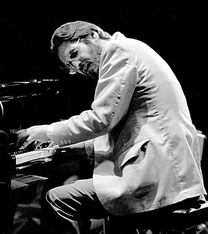Bill Evans performing at the Montreux Jazz Fes...