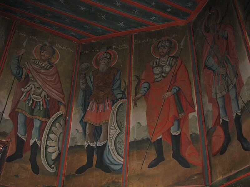 Fișier:Biserica de lemn Adormirea Maicii Domnului din satul Gavanu comuna Manzalesti judetul Buzau Romania 15.jpg