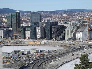 Largest metropolitan areas in the Nordic countries - Image: Bjorvika mars 2013