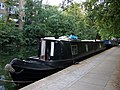Black narrow boat on the Regent's Canal - geograph.org.uk - 1537958.jpg