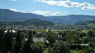 Bruneck - Image: Blick ueber Bruneck von Dietenheim